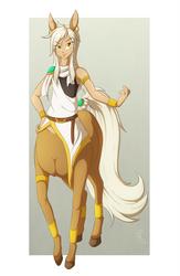 Completely Unamused Centaur by SepiSnake