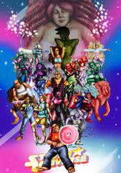 Steven Universe All-star Gems by ChrisGRepresa