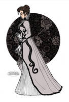 Victorian Lady in Grey Dress by LaTaupinette