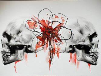 Skulls Tattoo Design by gpreece