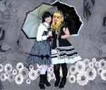 Flowers, Umbrellas, Sisters by OppositeCosplay