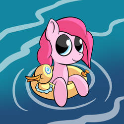Pinkie and her ducky by Sharkwellington