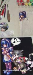 Ragnarok Online Alice and Wild Rose Pixel Paint by AcronymLoveSapphire