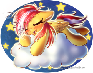 Commission - Sleeping on a cloud by ChaosAngelDesu