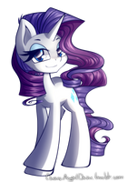 Rarity the Unicorn by ChaosAngelDesu
