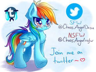 My Twitter accounts by ChaosAngelDesu