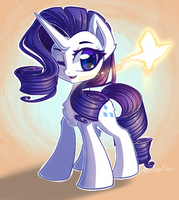 Rarity and a Butterfly by ChaosAngelDesu