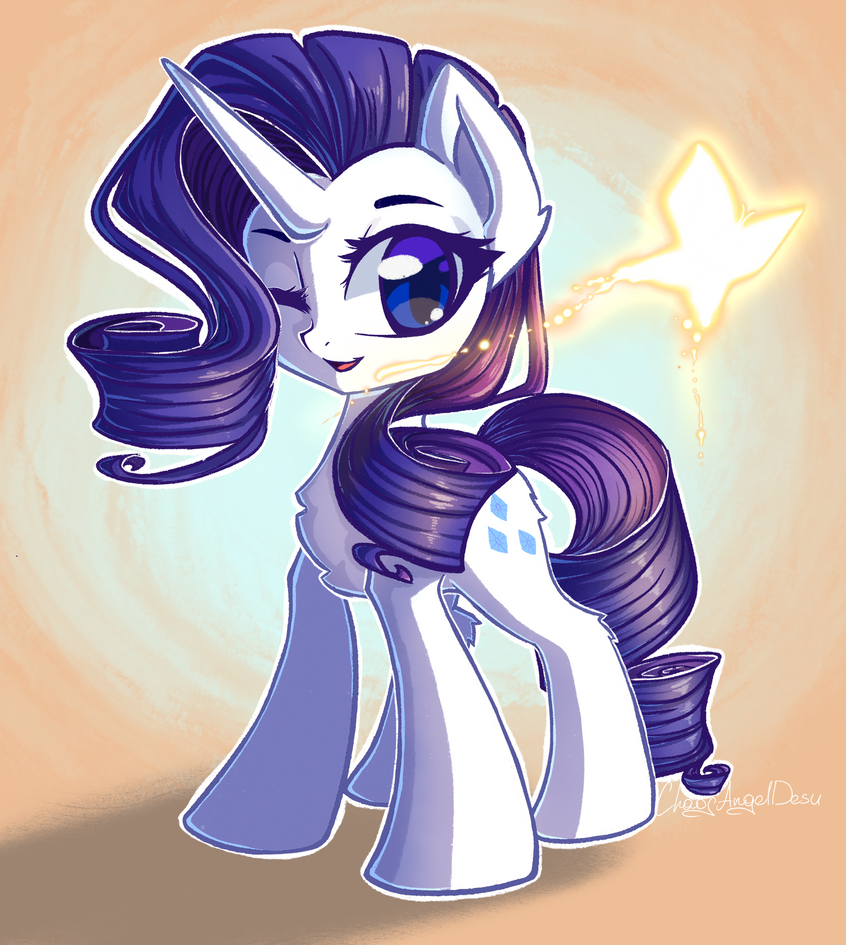 rarity_and_a_butterfly_by_chaosangeldesu