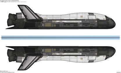 X-70B Peregine Reusable Unmanned Space Vehicle by BlastWaves