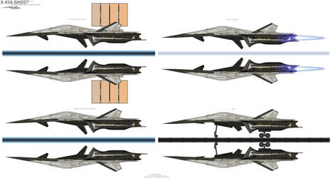 X-43A Ghost Advanced Multirole Space Fighter by BlastWaves