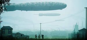 Airships Over Horoa by BlastWaves