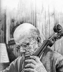 Cellist Pablo Casals by KingVahagn