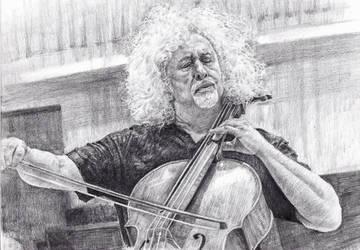 Cellist Mischa Maisky by KingVahagn
