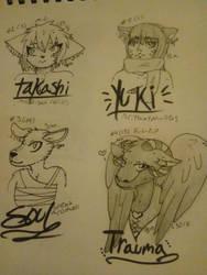 Freebie sketch batch 4 by kittyocat