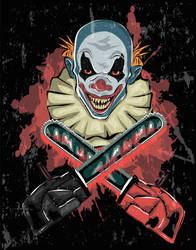 Scary Clown - Halloween Poster by 8LouLou8