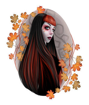Autumn fairy - vector by 8LouLou8