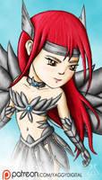 COMMISSION: Erza Scarlet (Chibi) by YaggyDigital