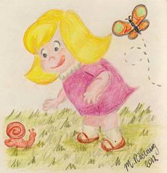 Little girl by roslaug