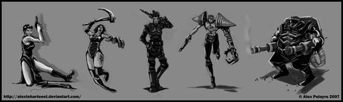 Concept Art Characters by AlexTehArteest