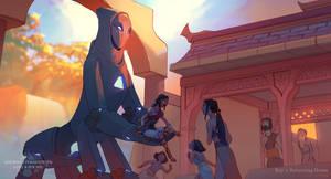 Ancient Civilisation: Returning home by Rozen-Clowd
