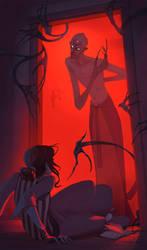 Someones at the Door by Rozen-Clowd