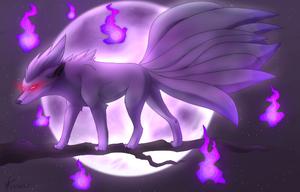Shiny ninetales by Pandoraz-Kyle