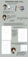 Chibi and Anatomy Tutorial :1 by MindlessNie