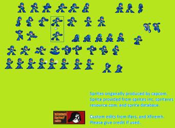 Megaman custom edits vol.0.1 sprite sheet by XFireMHDev