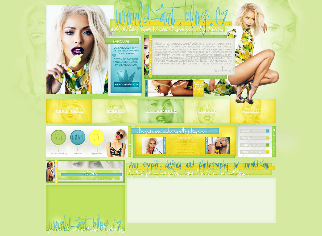 Past layout #4   Spring with Kat by KeviWorldArt