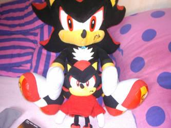 My 2 Shadow Plushys by Shadowgirlfan
