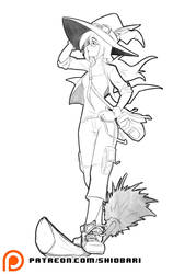 SKETCH: Casual Witch by Shio-bari