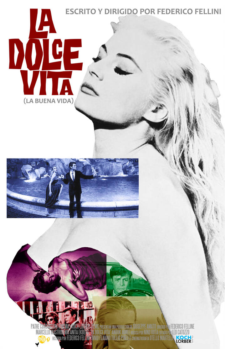 La dolce vita alternate poster by Moomuu