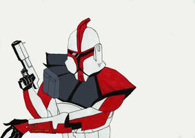 Shock Trooper from Star wars cartoon by Jey0s