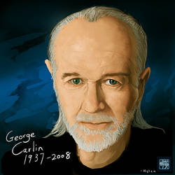 George Carlin by mqken