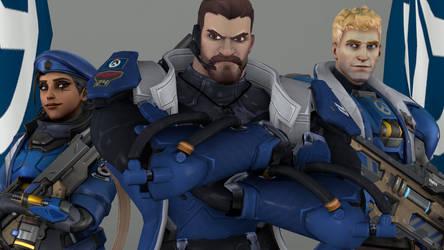 Reyes, Amari and Morrison by OverwatchZeroHour