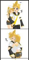 MMD Rin x Len Comic 2 by Kaiko-Akai