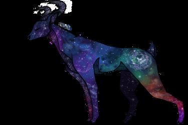 space deer by nakiamiwolf