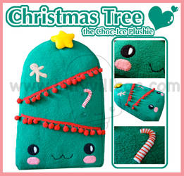 Christmas Tree plushie lolly by fuzzy-jellybeans