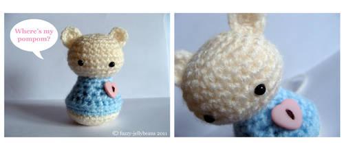 Bear Heart Amigurumi by fuzzy-jellybeans