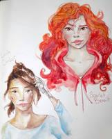 Scarlet and Cinder by jeanlee19