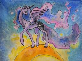 Luna's starry night by QueenAnneka
