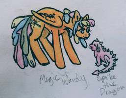OC pony: Magic Wandy by QueenAnneka