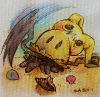 Pokemon: Busted Mimikyu's shadow claw by QueenAnneka