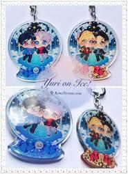 YURI ON ICE Glitter Charms by KokoTensho