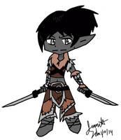 chibi warrior by xxyuikoxxyamazakixx