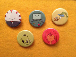 Adventure Time buttons II by alliartist