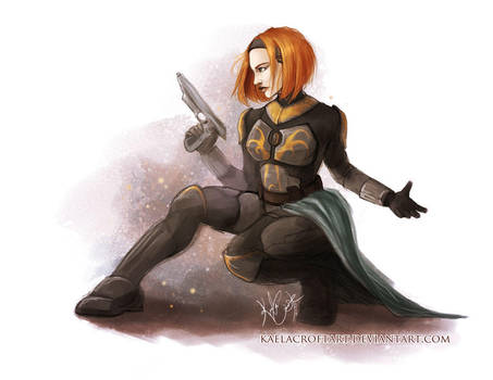 Bo-Katan: True Mandalorian by KaelaCroftArt