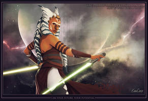 Ahsoka Tano - Your Future by KaelaCroftArt