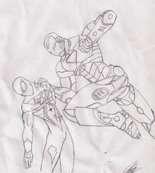 Ironman vs Spiderman by Enrique23
