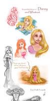 Request Sketchdump, pt. 1: Disney. by Elf-in-mirror